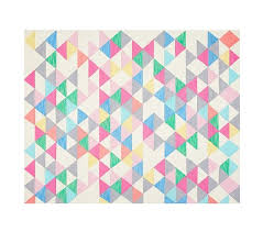 girls bedroom rugs. pottery barn jackson rug - girls decor pastels triangles squares bedroom rugs