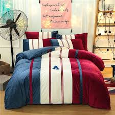 flannel duvet cover king size sports style bedding sets sham thick flannel duvet cover set winter