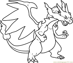 Small Picture Mega Charizard X Pokemon Coloring Page Free Pokmon Coloring
