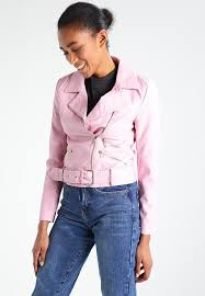 new look faux leather jacket light pink women clothing jackets