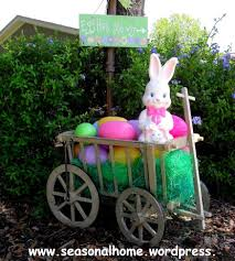 For Outdoor Decorations 30 Lovely Easter Outdoor Decorations Home The Ojays And Rabbit