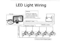 trailer work lights in wiring diagram for led