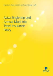 Single trip travel insurance covers you for one trip with a specified start and end date. Aviva Single Trip And Annual Multi Trip Travel Insurance Policy