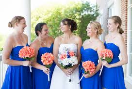 {Cobalt Blue and Coral} Virginia Wedding|Photographer: Chelsea Anderson  Photography ...