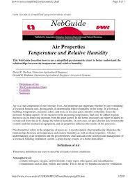 How To Use Humidity Chart Psychrometric Chart Pdf Ironwarrior Org
