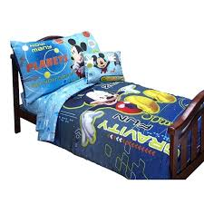 mickey mouse toddler bed set mickey mouse space adventures 4 piece toddler bedding set disney mickey mouse toddler bed set
