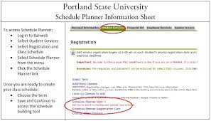 Class Planer Portland State Office Of The Registrar Schedule Planner