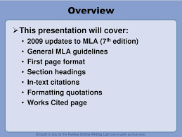 Ppt Mla 7 Th Edition Formatting And Style Guide Powerpoint
