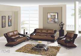 Living Room With Brown Furniture Best Color To Paint Walls With Brown Leather Furniture House Decor