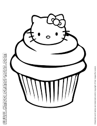 Small Picture Hello Kitty Cupcake Coloring Page Could be a handy little site