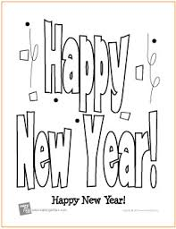 Small Picture Happy New Year Free Printable Coloring Page