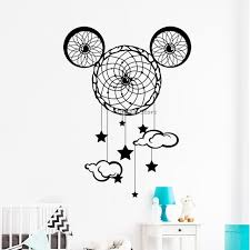 Dream Catcher Saying Custom Dreamcatcher Wall Decals Kids Bedroom Home Decor Mickey Mouse Ears