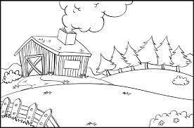 Scene Barn Coloring Pages Print Coloring Scene Barn Coloring Page