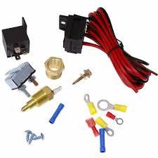 electric fan wire harness kit complete thermostat 50 amp relay 185 electric fan wire harness kit complete thermostat 50 amp relay 185° bbc sbc