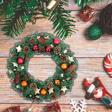 Weihnachtskranz Türkranz Außen Weihnachtsdeko Für Tür Und