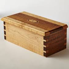 decorative boxes curly walnut and curly maple box with dovetail joints and inlaid wood medallion