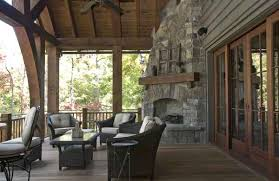 fabulous outdoor porch fireplace corner outdoor fireplace porch rustic with cedar shake roof lakehouse