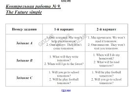 ГДЗ контрольные по английскому языку класс Кулинич the past simple Контрольная работа 2 the article 1 Контрольная работа 3 the article 2