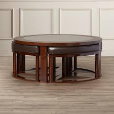 coffee table stool set reviews wayfair view larger