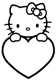 Kitty Kleurplaat Kleuters Kleurplaten Verjaardaggeboorte