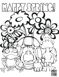 Spring Coloring Pictures Printable J3798 Spring Coloring Pages