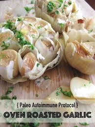 aip oven roasted garlic with olive oil french paleo recipe