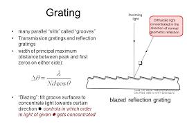 43 grating blazed reflection grating