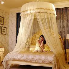Big Size Double Lace Hung Done Mosquito Net Round Bed Canopy Netting ...