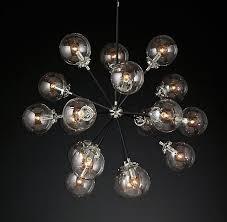 bistro globe clear glass burst chandelier 32 light fixtures for r plus chandeliers lightodern