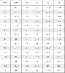 Shoe Width Chart Womens Shoe Width Chart Womens