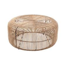coffee table wicker rattan tables vintage round cane glass