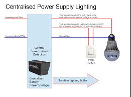 centralised power supply system for emergency lighting
