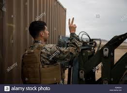 Marine Corps Hand Signals U S Marine Corps Cpl Justin Robles A Heavy Equipment