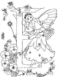 Small Picture Alphabet Elf Letter D Coloring Pages Little Elf Wearing Flower Hat
