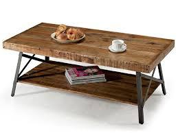 photo of rustic industrial coffee table custom made industrial coffee table with rustic wood and metal