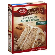 Betty Crocker Delights Super Moist Butter Pecan Cake Mix 1525 Oz