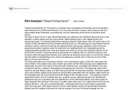 film analysis edward scissorhands by tim burton university  document image preview
