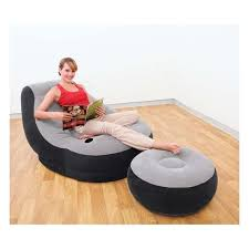 intex inflatable furniture.  furniture intex inflatable ultra lounge chair and ottoman set on furniture o