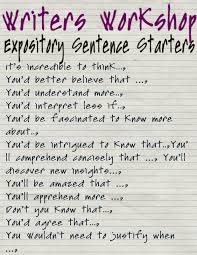 reading sage sentence starters expository writing