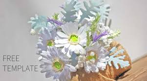 Daisy Paper Flower How To Make Gerbera Paper Bouquet From Copier Paper Free