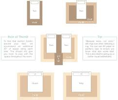 rug sizing guide for twin queen and king beds bedded bedroom size chart 9x12 under bed rugs right
