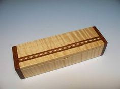 Small Decorative Wooden Boxes Decorative box Small Wooden Box Treasure box Birch with Quilted 54