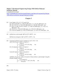 Mechanical Design Shigley Pdf Shigleys Mechanical Engineering Design 10th Edition Budynas