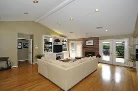 led recessed lighting for sloped ceiling on living room