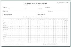 Daily Attendance Record Template Daily Attendance Sheet In Excel