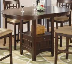 coaster lavon round counter height table cherry