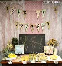 ... of money to spend on the bridal shower, then here are some really cute  options for things you can get to incorporate the travel themed into the  decor: ...