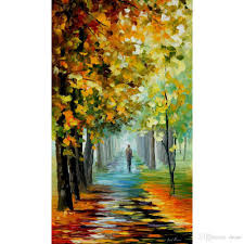2018 abstract art the of the fall by leonid afremov landscapes oil painting canvas high quality hand painted from dessa 117 59 dhgate com