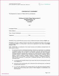 Nda Template Free Download Non Disclosure Form Template Standard Model Agreement Doc