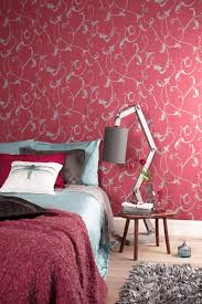 Wallpaper Camarque Red Behang Camarque Rood Bn Wallcoverings
